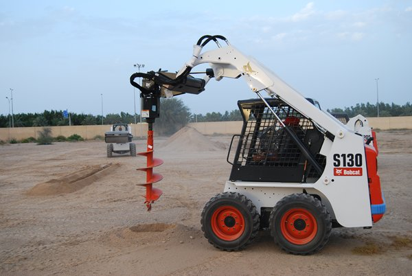 bobcat with auger