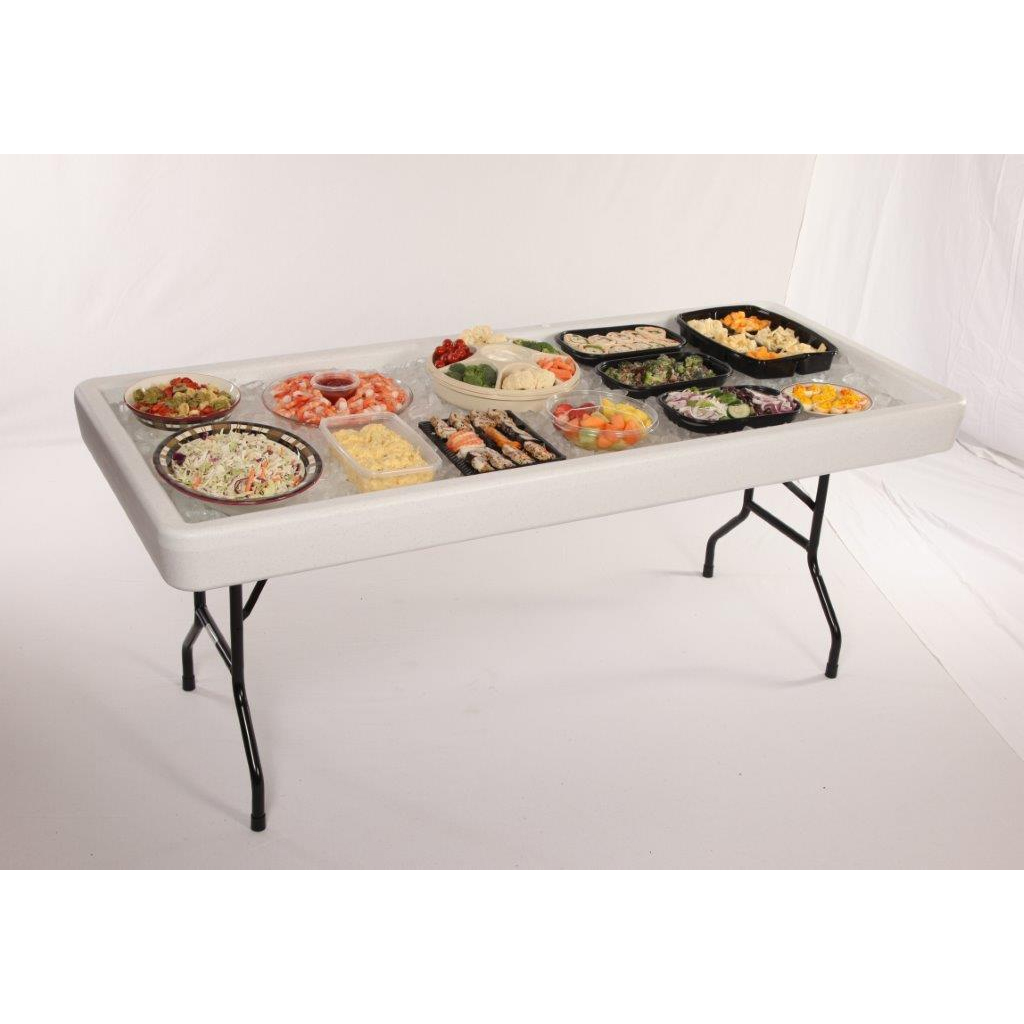 Table Chill-N-Fill Beverage Serving Table