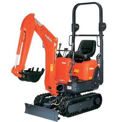 Kubota K008-3 – Backhoe 5′ 6″. (Trailer Additional)